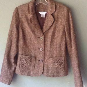 Brown tweed blazer
